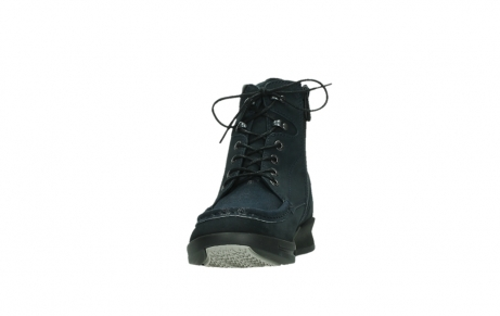 wolky lace up boots 05904 four 10875 blue winter stretch nubuck_8