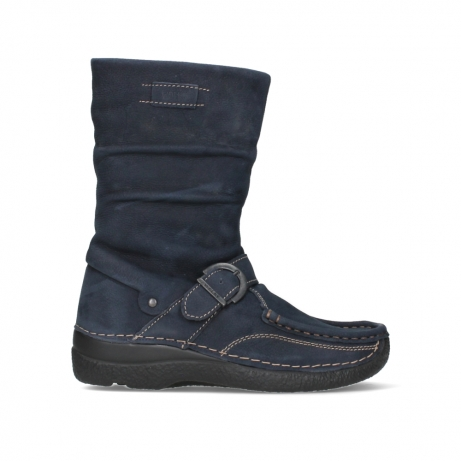 wolky mid calf boots 06267 roll jacky 11800 blue nubuck