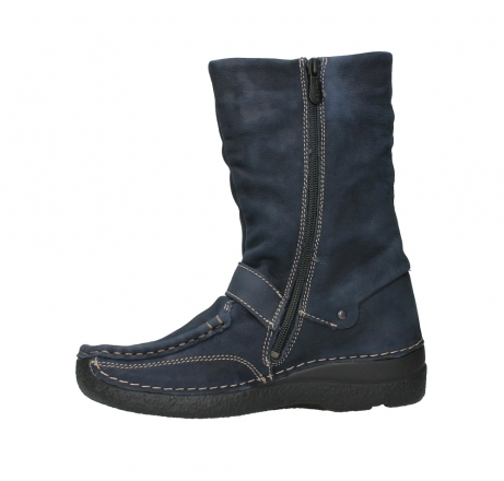 wolky mid calf boots 06267 roll jacky 11800 blue nubuck_12