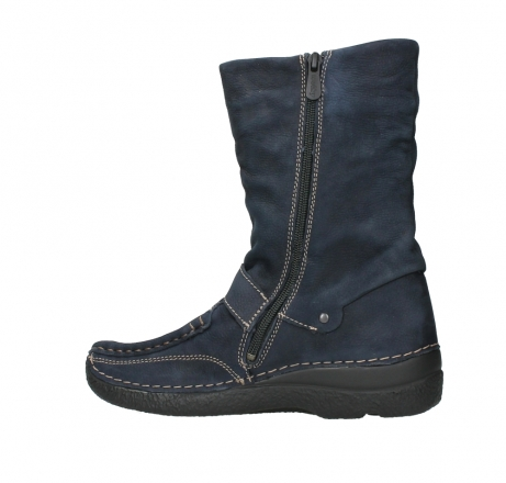 wolky mid calf boots 06267 roll jacky 11800 blue nubuck_14