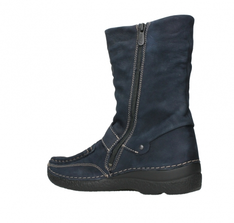 wolky mid calf boots 06267 roll jacky 11800 blue nubuck_15