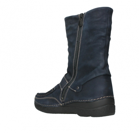 wolky mid calf boots 06267 roll jacky 11800 blue nubuck_16