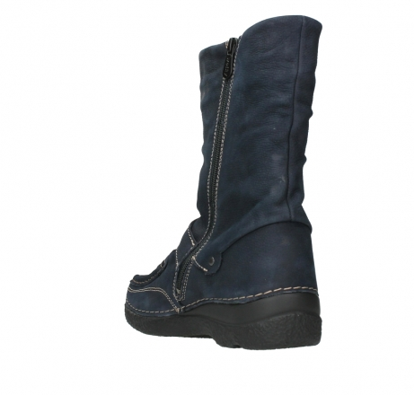 wolky mid calf boots 06267 roll jacky 11800 blue nubuck_17