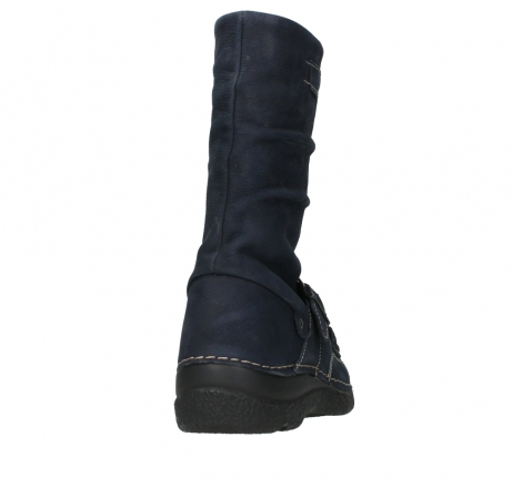 wolky mid calf boots 06267 roll jacky 11800 blue nubuck_20