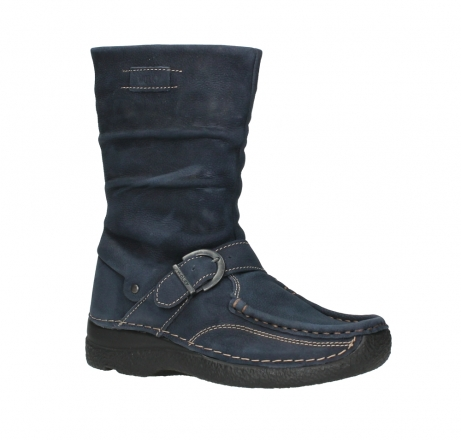 wolky mid calf boots 06267 roll jacky 11800 blue nubuck_3