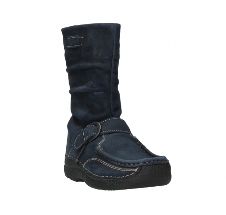 wolky mid calf boots 06267 roll jacky 11800 blue nubuck_5