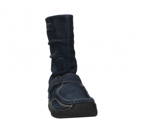 wolky mid calf boots 06267 roll jacky 11800 blue nubuck_6