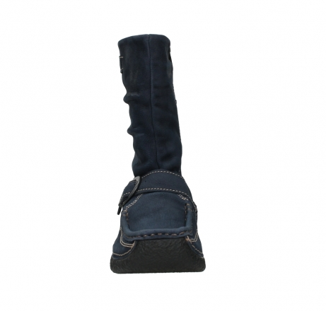 wolky mid calf boots 06267 roll jacky 11800 blue nubuck_7