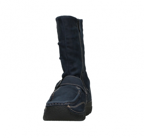 wolky mid calf boots 06267 roll jacky 11800 blue nubuck_8