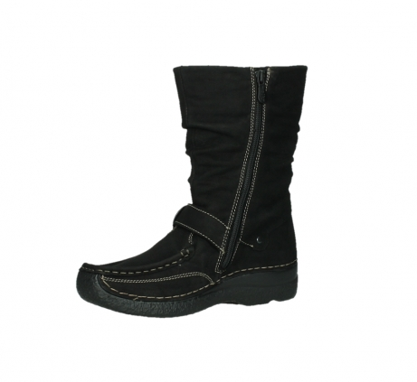 wolky mid calf boots 06267 roll jacky 50000 black oiled leather_11