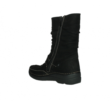 wolky mid calf boots 06267 roll jacky 50000 black oiled leather_16