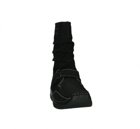 wolky mid calf boots 06267 roll jacky 50000 black oiled leather_6
