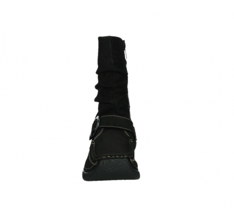 wolky mid calf boots 06267 roll jacky 50000 black oiled leather_7