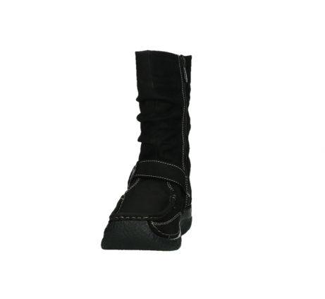 wolky mid calf boots 06267 roll jacky 50000 black oiled leather_8