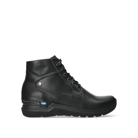 wolky lace up boots 06612 whynot 24000 black leather