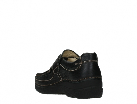 wolky slipons 06221 roll strap 70000 black printed leather_17