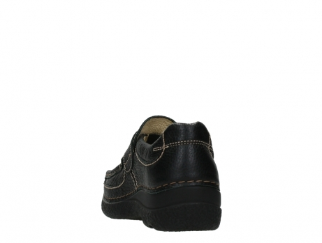 wolky slipons 06221 roll strap 70000 black printed leather_18