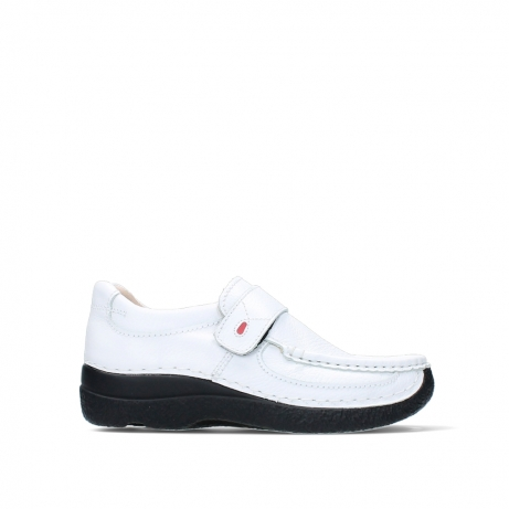 wolky slipons 06221 roll strap 70100 white printed leather