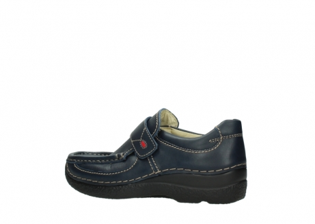 wolky slipons 06221 roll strap 30800 blue leather_3