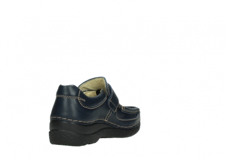 wolky slipons 06221 roll strap 30800 blue leather_9