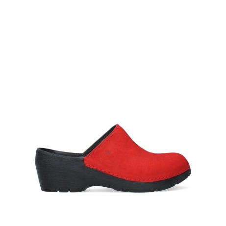 wolky clogs 06075 pro clog 11500 red nubuck