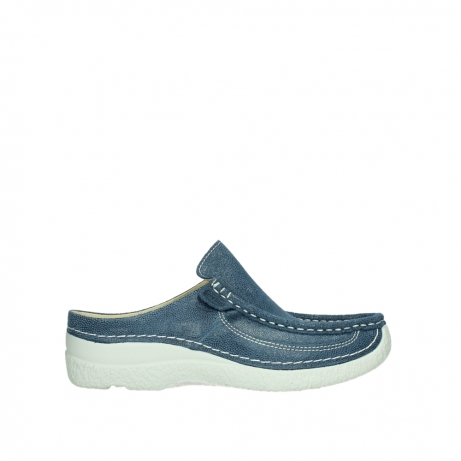 wolky clogs 06202 roll slide 15820 denimblue nubuck