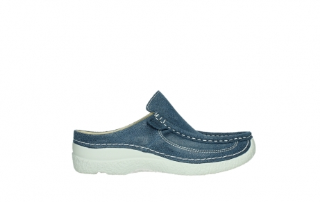 wolky clogs 06202 roll slide 15820 denimblue nubuck_1