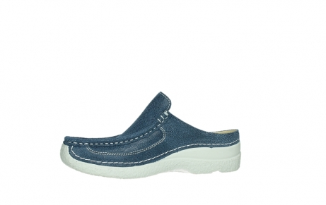 wolky clogs 06202 roll slide 15820 denimblue nubuck_12