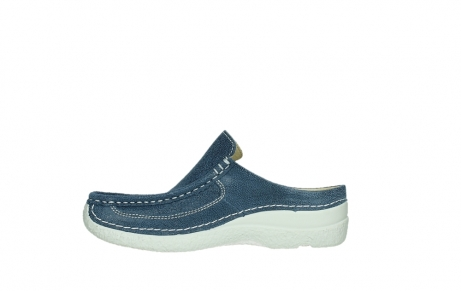 wolky clogs 06202 roll slide 15820 denimblue nubuck_13