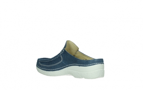 wolky clogs 06202 roll slide 15820 denimblue nubuck_16