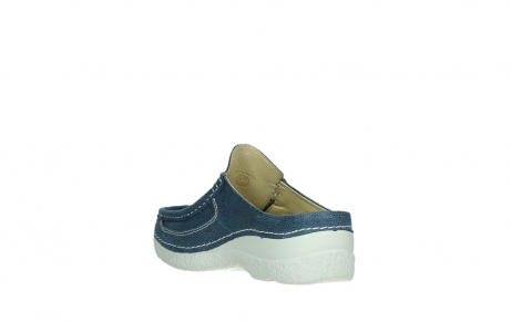 wolky clogs 06202 roll slide 15820 denimblue nubuck_17
