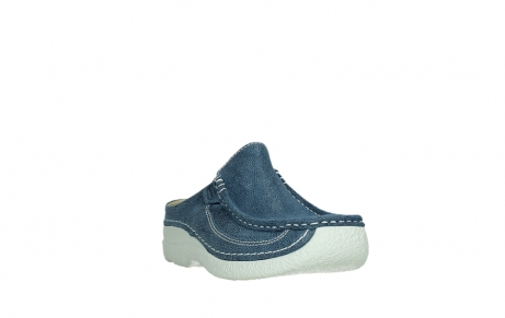 wolky clogs 06202 roll slide 15820 denimblue nubuck_5