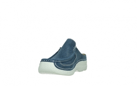 wolky clogs 06202 roll slide 15820 denimblue nubuck_9