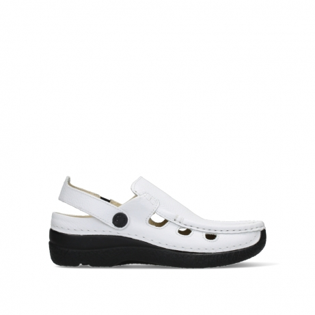 wolky slippers 06220 roll multi 70100 white printed leather