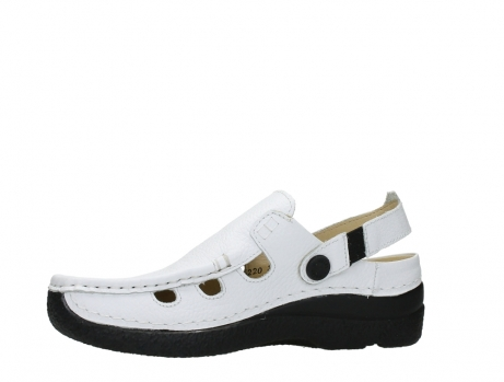 wolky clogs 06220 roll multi 70100 white printed leather_12