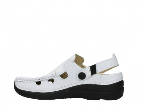 wolky clogs 06220 roll multi 70100 white printed leather_14