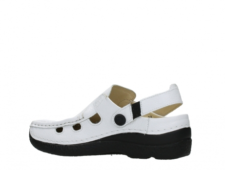 wolky clogs 06220 roll multi 70100 white printed leather_15