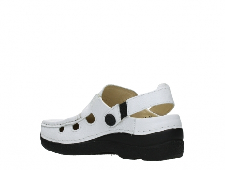 wolky clogs 06220 roll multi 70100 white printed leather_16