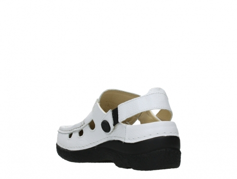 wolky clogs 06220 roll multi 70100 white printed leather_17
