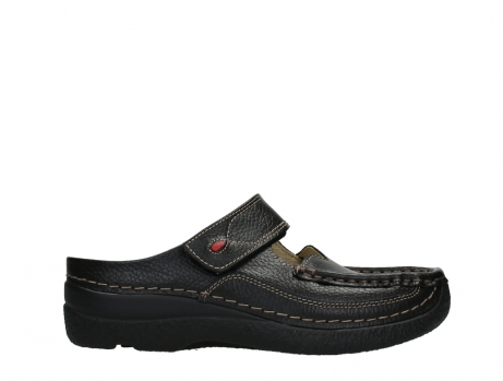 wolky slippers 06227 roll slipper 70000 black printed leather_1