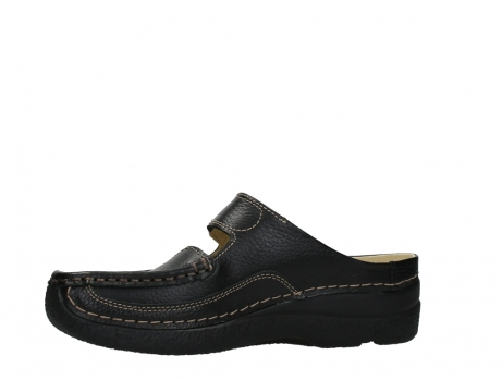 wolky slippers 06227 roll slipper 70000 black printed leather_12