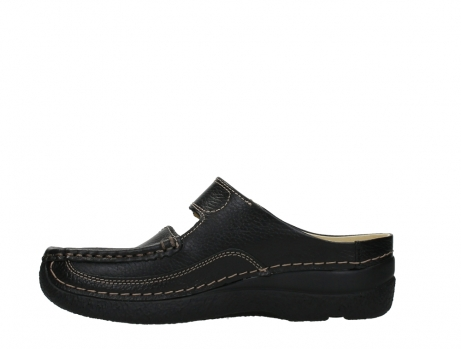 wolky slippers 06227 roll slipper 70000 black printed leather_13