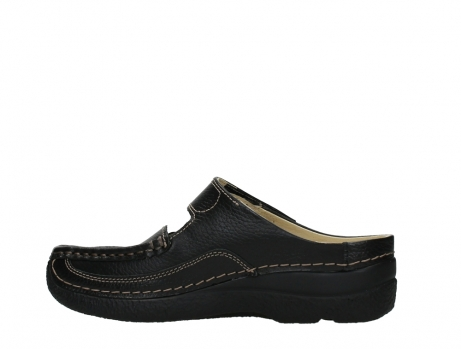 wolky slippers 06227 roll slipper 70000 black printed leather_14