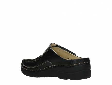 wolky slippers 06227 roll slipper 70000 black printed leather_16