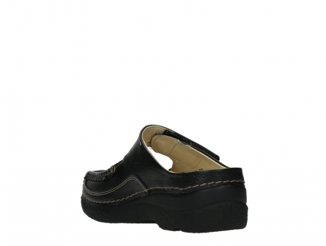 wolky slippers 06227 roll slipper 70000 black printed leather_17