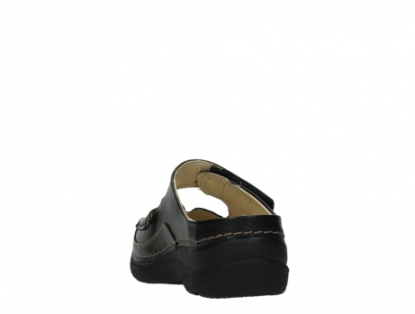 wolky slippers 06227 roll slipper 70000 black printed leather_18