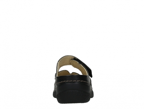 wolky slippers 06227 roll slipper 70000 black printed leather_19