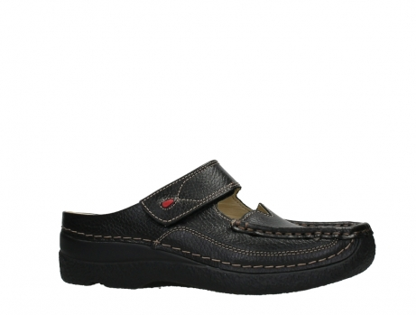wolky slippers 06227 roll slipper 70000 black printed leather_2