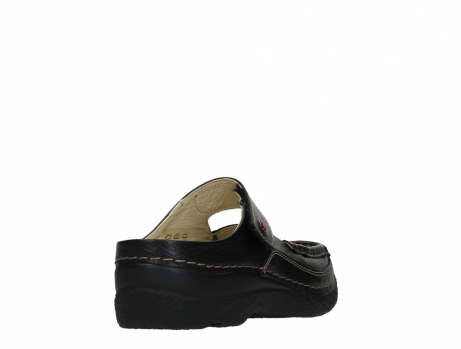 wolky slippers 06227 roll slipper 70000 black printed leather_21