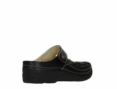 wolky slippers 06227 roll slipper 70000 black printed leather_22